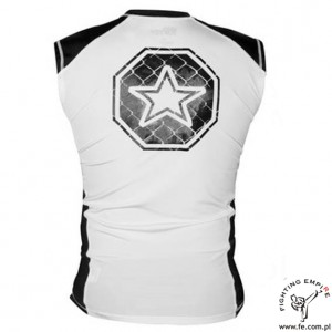 Rashguard MMA CAGE white TOP TEN